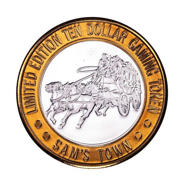 .999 Silver Sam's Town Las Vegas, Nevada $10 Casino Limited Edition Gaming Token