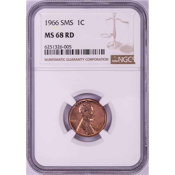 1966 SMS Lincoln Memorial Cent Coin NGC MS68RD