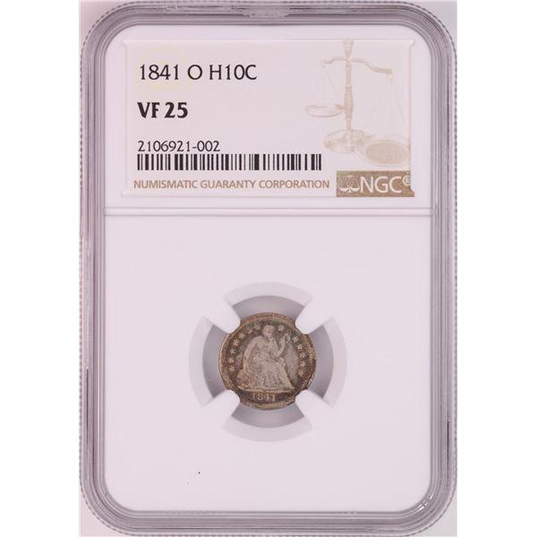 1841-O Seated Liberty Half Dime Coin NGC VF25