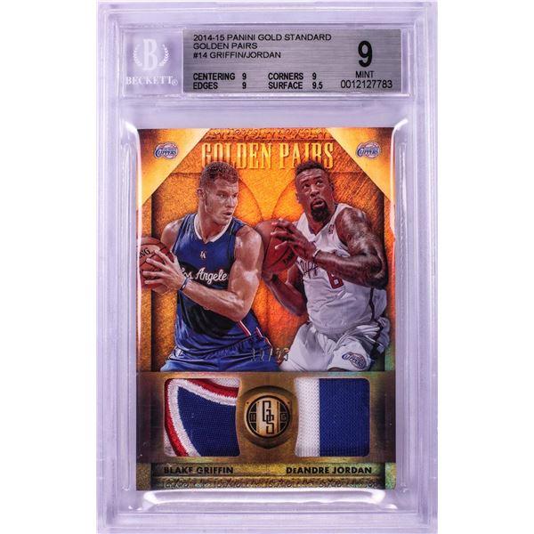 2014 Panini Gold Standard Blake Griffin & De'Andre Jordan NBA Card #14 BGS Mint 9