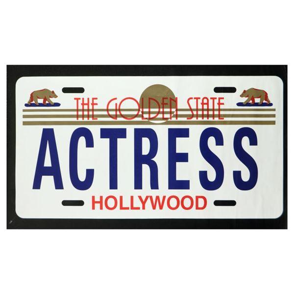 """Steve Kaufman (1960-2010) """"Actress"""" Original Serigraph On Canvas"""