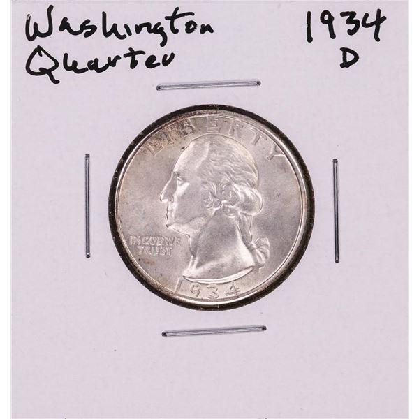 1934-D Washington Quarter Coin