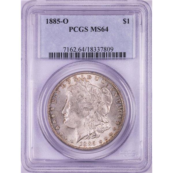 1885-O $1 Morgan Silver Dollar Coin PCGS MS64