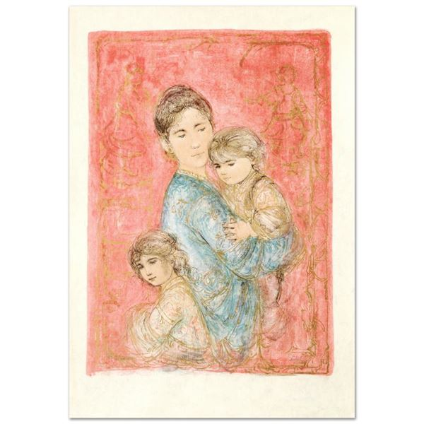 """Hibel (1917-2014) """"Sonya And Family"""" Limited Edition Lithograph On Rice Paper"""