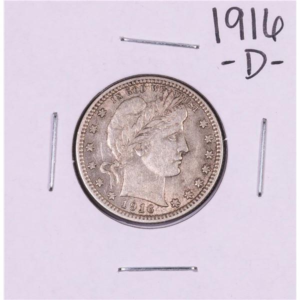 1916-D Barber Quarter Coin