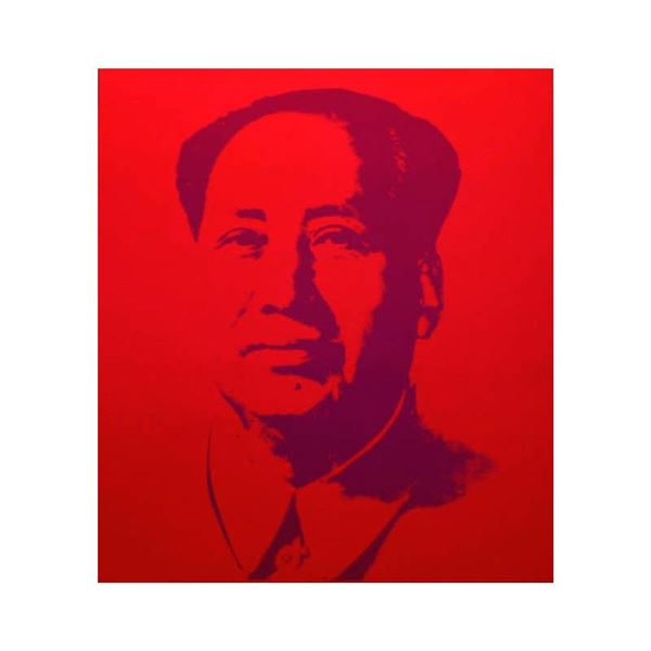 """Andy Warhol """"Mao Red"""" Print Serigraph On Paper"""