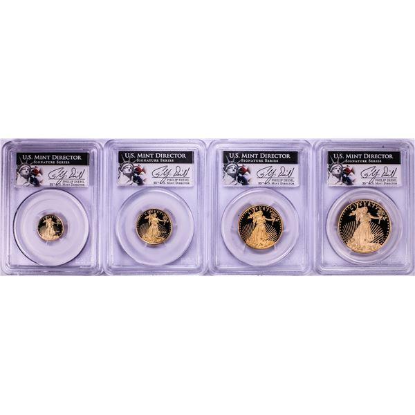 Set of 2011-W Proof American Gold Eagle Coins PCGS PR69 Philip Diehl Signature