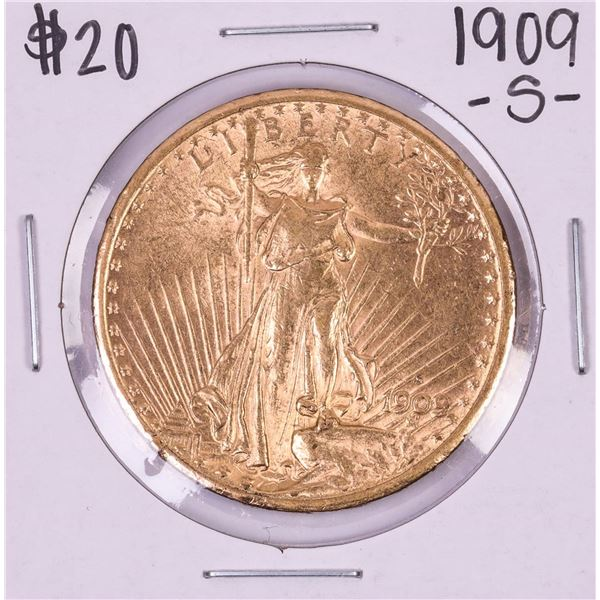 1909-S $20 St. Gaudens Double Eagle Gold Coin