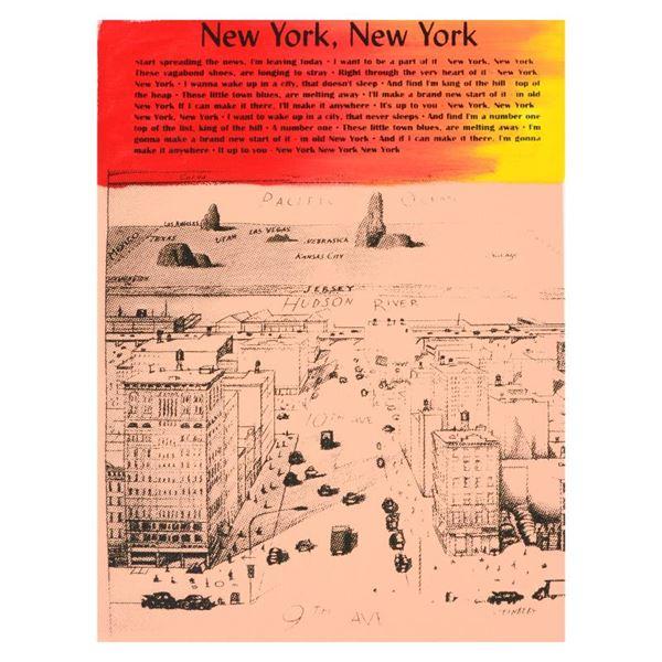 "Ringo Daniel Funes ""New York, New York"" Original Mixed Media On Canvas"