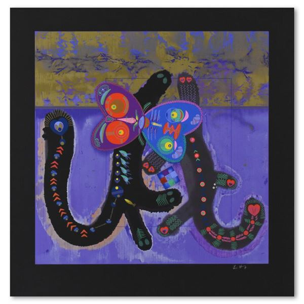 """Lu Hong """"Kitty Camp Romance (Black)"""" Limited Edition Serigraph On Paper"""