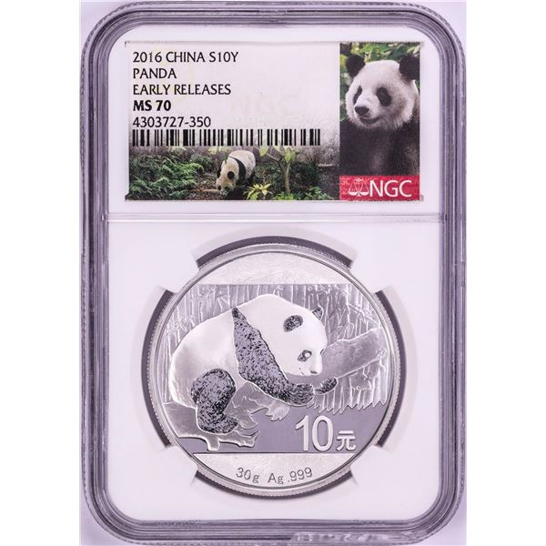 2016 China Panda Silver Coin NGC MS70 Early Releases