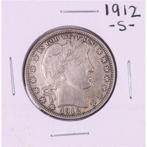 1912-S Barber Half Dollar Coin