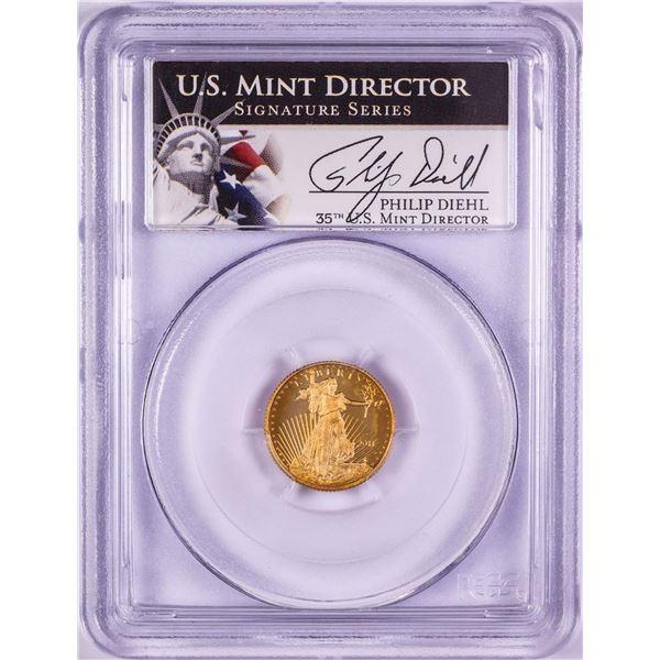 2011-W $5 Proof American Gold Eagle Coin PCGS PR69DCAM Philip Diehl Signature
