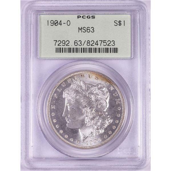 1904-O $1 Morgan Silver Dollar Coin PCGS MS63 Old Green Holder