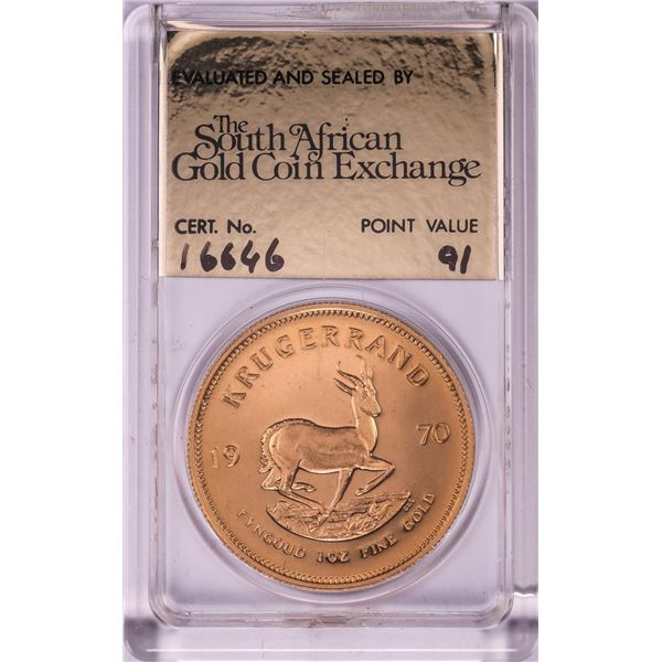 1970 Proof South Africa 1oz Krugerrand Gold Coin w/COA