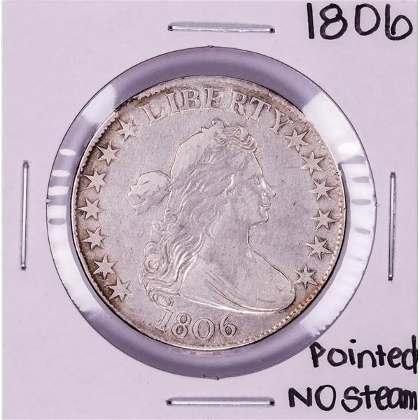1806 Pointed 6 No Stem Draped Bust Half Dollar Coin