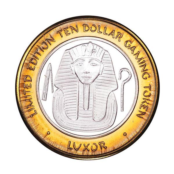 .999 Fine Silver Luxor Las Vegas, Nevada $10 Limited Edition Gaming Token