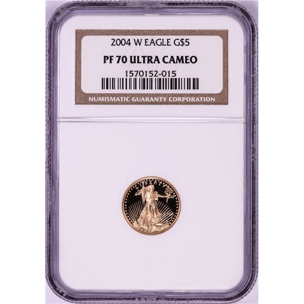 2004-W $5 Proof American Gold Eagle Coin NGC PF70 Ultra Cameo
