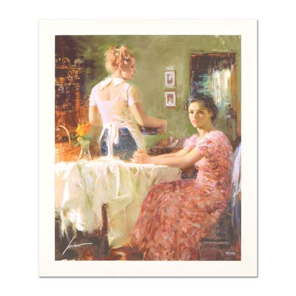 """Pino (1939-2010) """"Sharing Moments"""" Limited Edition Giclee On Paper"""