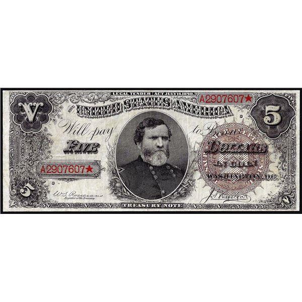 1890 $5 Treasury Note
