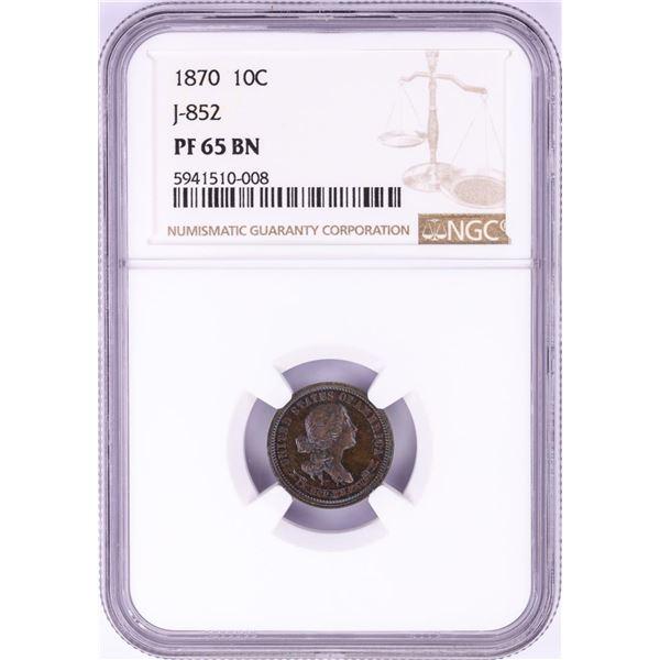 1870 Pattern Proof Standard Silver Ten Cents Coin NGC PF65BN Judd-852