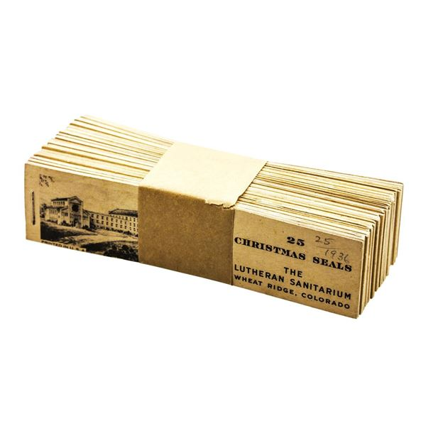 Lot of (25) 1936 Christmas Seals Books Wheat Ridge Colorado