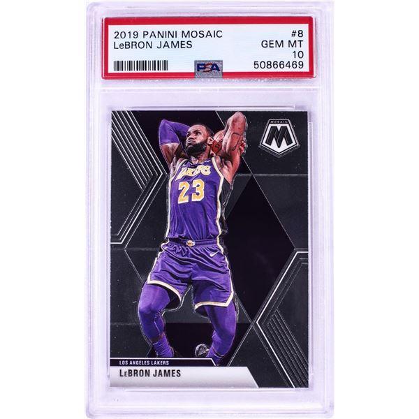 2019 Panini Mosaic LeBron James NBA Card #8 PSA Gem Mint 10