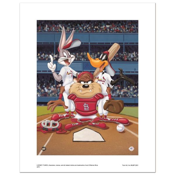 """Looney Tunes """"At The Plate (Cardinals)"""" Limited Edition Giclee On Paper"""