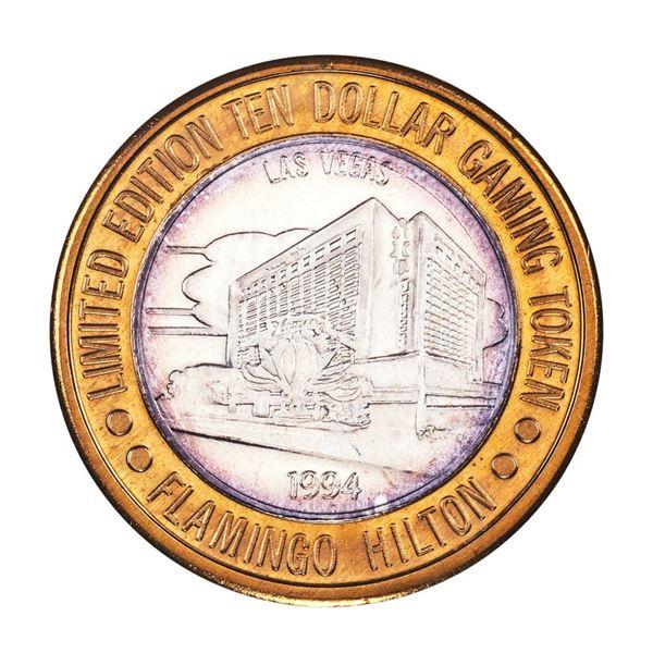 .999 Silver Flamingo Las Vegas, Nevada $10 Casino Limited Edition Gaming Token