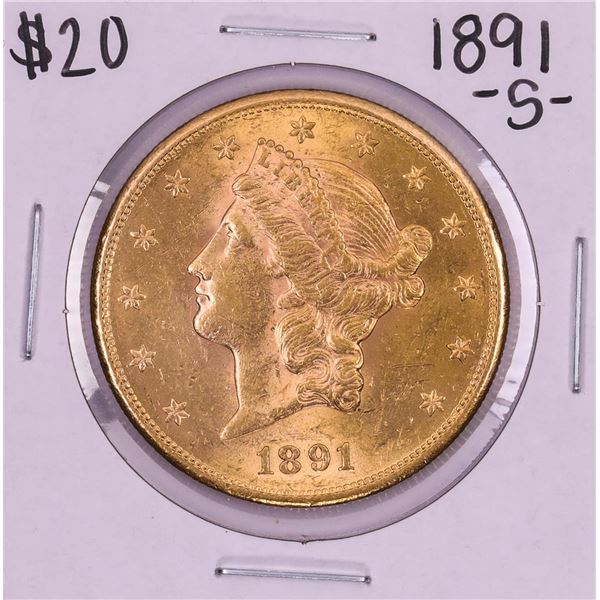 1891-S $20 Liberty Head Double Eagle Gold Coin