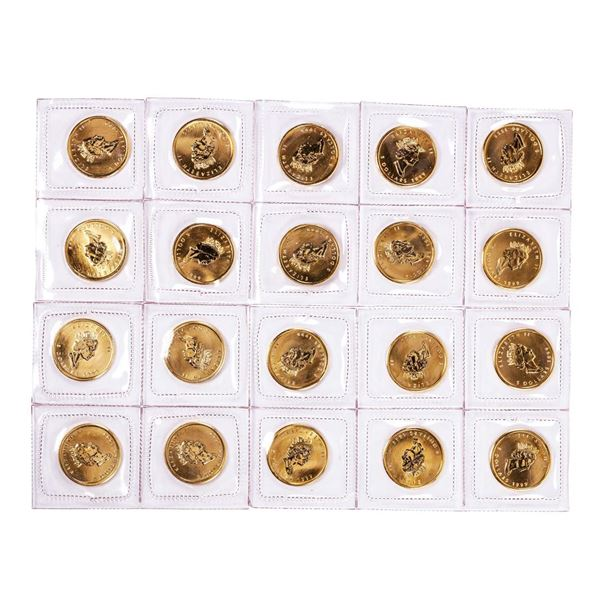 Lot of (20) Sealed 1999 Canadian $5 Maple Leaf Gold Coins