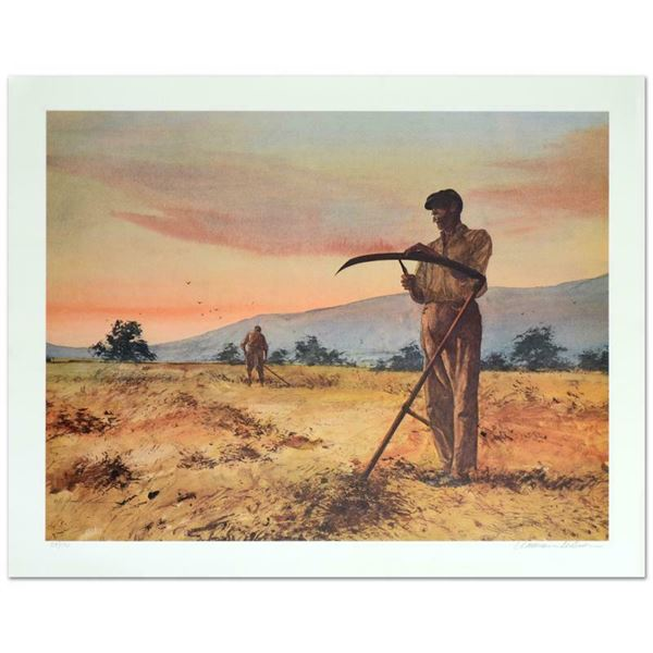 """William Nelson """"The Harvesters"""" Limited Edition Serigraph On Paper"""