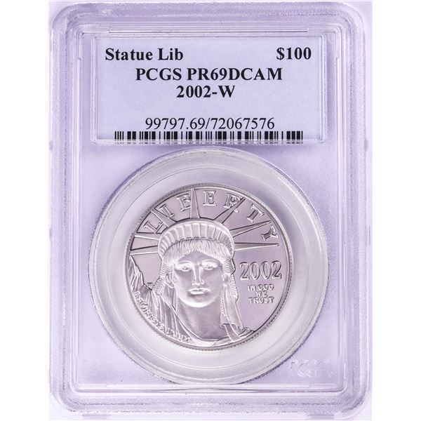 2002-W Proof $100 Platinum American Eagle Coin PCGS PR69DCAM