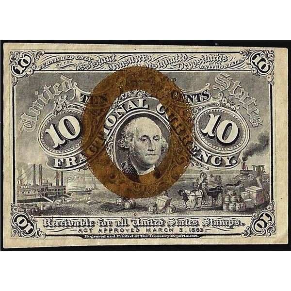 March 3, 1863 Second Issue Ten Cents Fractional Currency Note