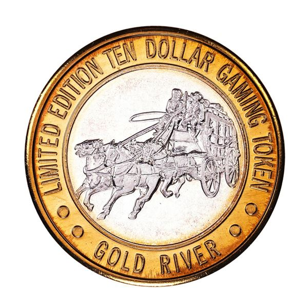 .999 Fine Silver Gold River Laughlin, Nevada $10 Limited Edition Gaming Token
