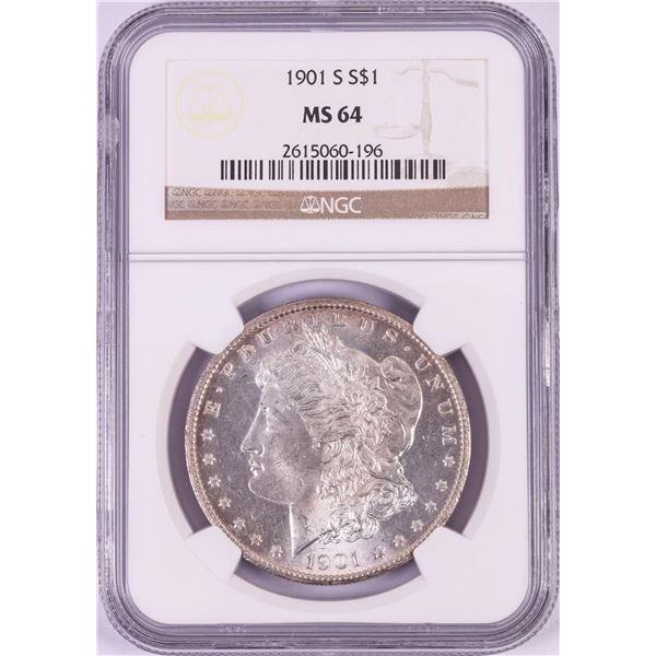 1901-S $1 Morgan Silver Dollar Coin NGC MS64
