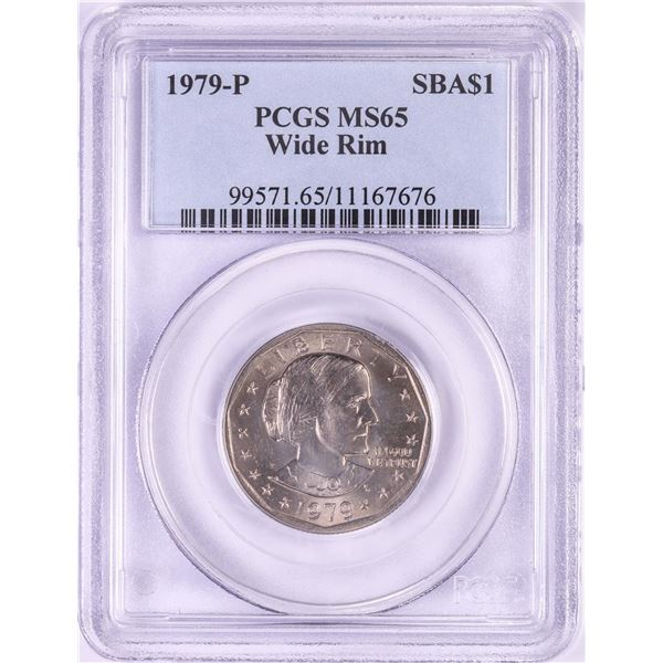 1979-P $1 Susan B Anthony Dollar Coin PCGS MS65 Wide Rim
