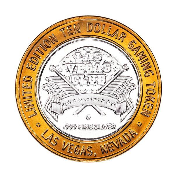 .999 Silver Las Vegas Club Nevada $10 Casino Limited Edition Gaming Token