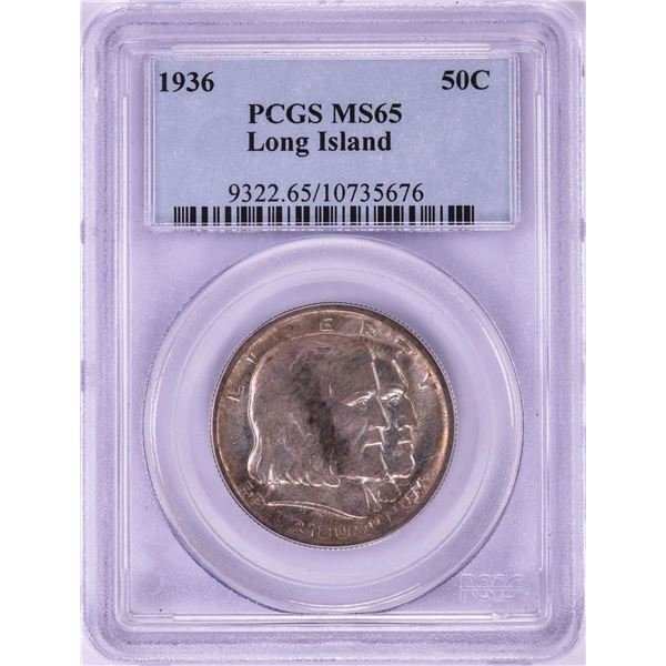 1936 Long Island Commemorative Half Dollar Coin PCGS MS65