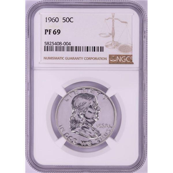 1960 Proof Franklin Half Dollar Coin NGC PF69