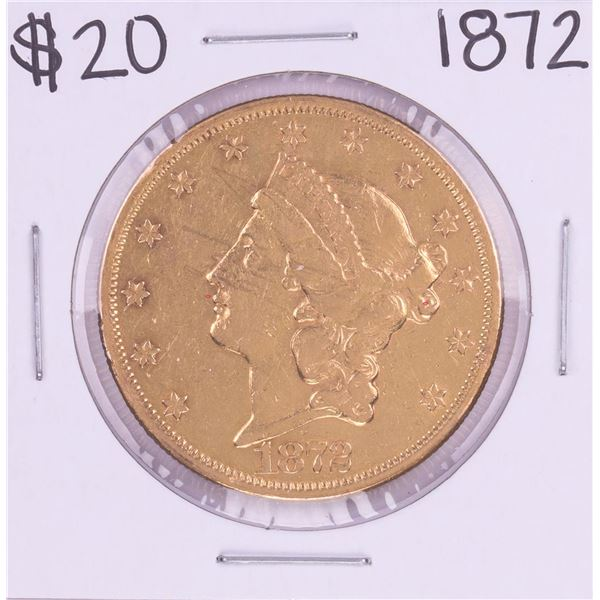 1872 Type 2 $20 Liberty Head Double Eagle Coin