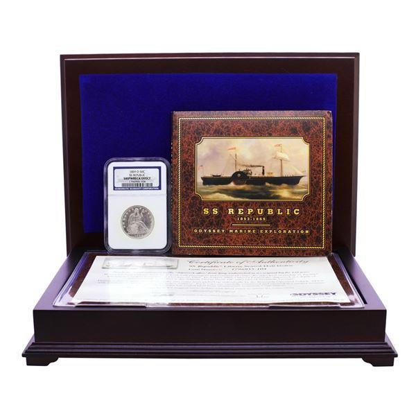 S.S. Republic Shipwreck 1859-O Seated Liberty Half Dollar Coin NGC Graded w/ Box & COA