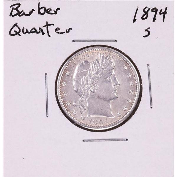 1894-S Barber Quarter Coin