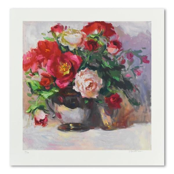"""SBurkett Kaiser """"Red Roses And Silver"""" Limited Edition Giclee On Paper"""