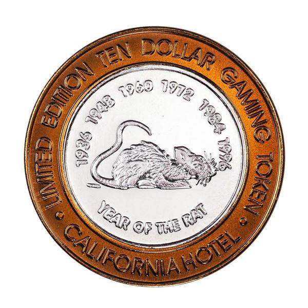 .999 Fine Silver Sam Boyd's California $10 Casino Limited Edition Gaming Token