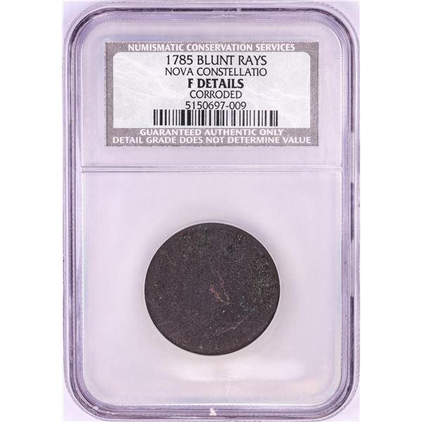 1785 Blunt Rays Nova Constellatio Copper Coin NCS F Details