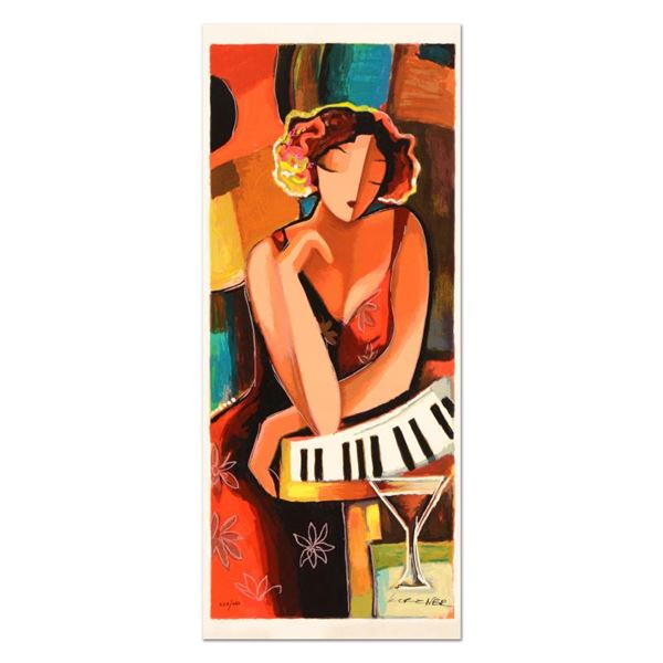 """Michael Kerzner """"The Pianist"""" Limited Edition Mixed Media On Canvas"""