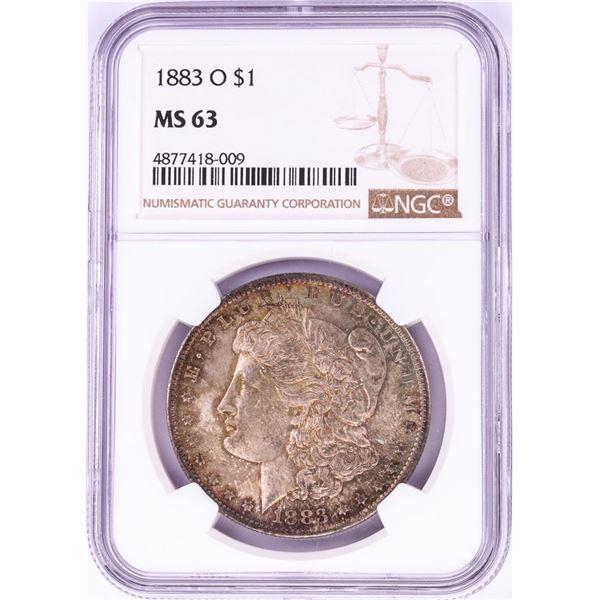 1883-O $1 Morgan Silver Dollar Coin NGC MS63 Nice Toning
