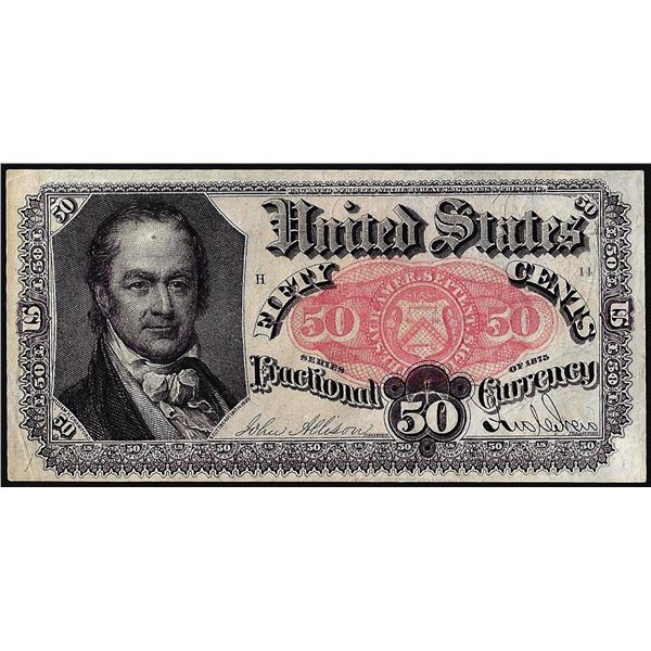 1874 Fifth Issue Fifty Cent Fractional Currency Note
