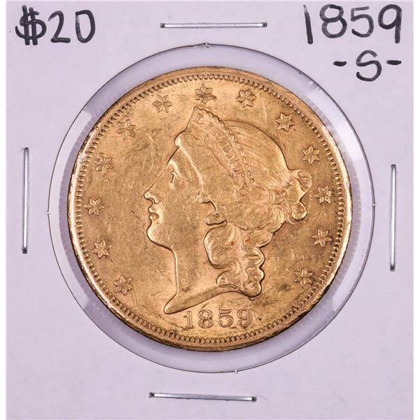 1859-S Type 1 $20 Liberty Head Double Eagle Gold Coin
